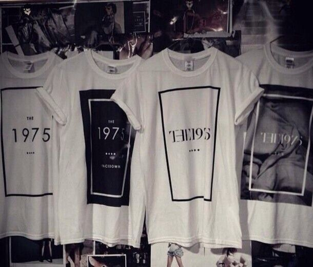 Shirt: the 1975, band, bands, t-shirt, band t-shirt - Wheretoget