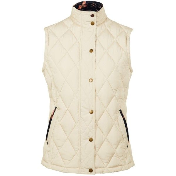 Barbour Tors Gilet ($135) ❤ liked on Polyvore featuring outerwear, vests, pearl, barbour gilet, barbour, sleeveless vest, barbour vest and sleeveless waistcoat