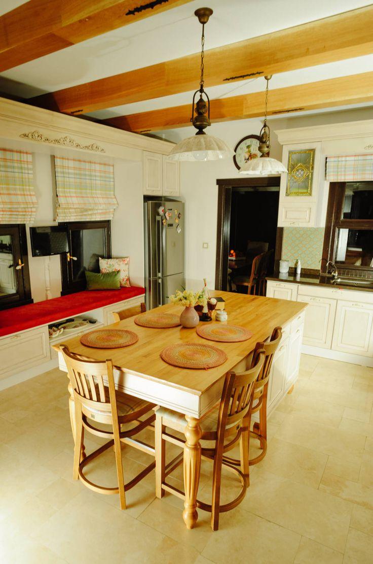 Koyu renkli modern bambu mutfak dolab modeli moda dekorasyonlar - Mekan Tasar M Modern Mutfak Bilgece Tasar M