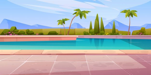 Download Swimming Pool In Hotel Or Resort Outdoors Summer For Free Landscape Background Anime Background Summer Landscape Download wallpaper swimming pool on