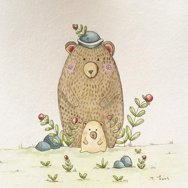 Cute Bear   Paint a small watercolor Illustration today    Heute mal eine kleines Bären Aquarell    #Bear#illustration#cutebear#watercoloillustrations#watercolorfun#illustrationart #illustratorsofinstagram#fun#cute#cuteillustration#cuteillustrations #aquarell#bär#bärenbild#bärenillustration#sweetillustration#sweet#bärchen#