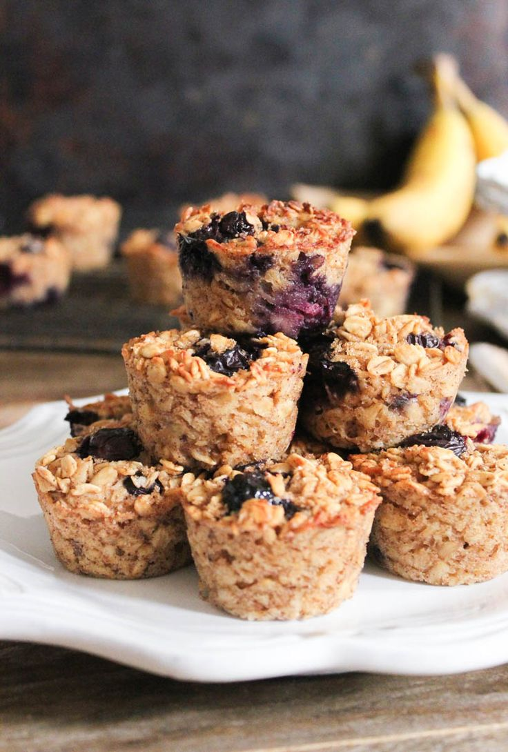 Banana-Berry Baked Oatmeal Bites (gluten-free/dairy-free)