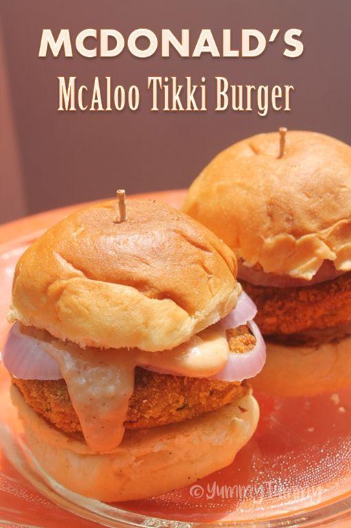 MCDONALD'S McAloo Tikki Burger Recipe - Crispy Aloo Tikki Burger