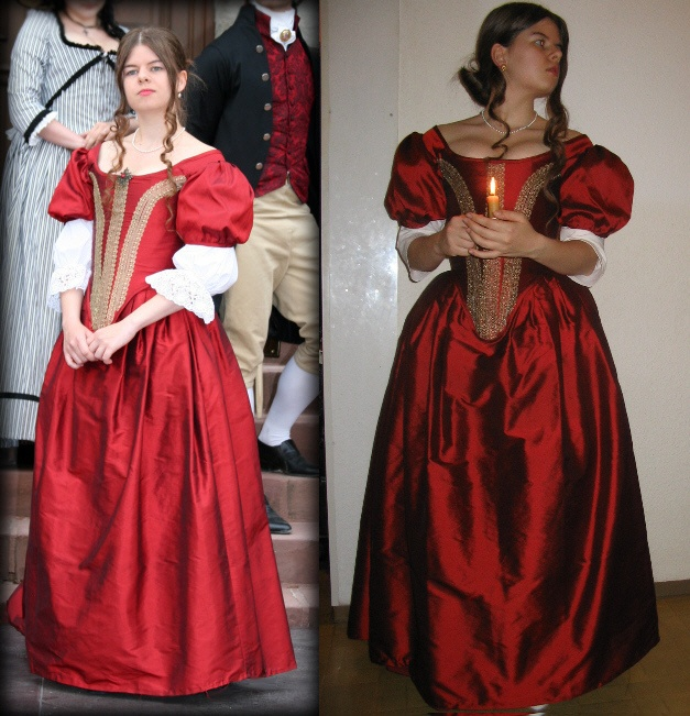 Red 1660s Costume by Weinglasarien