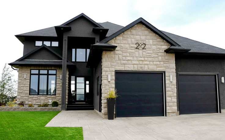 Modern Black House Bright Accents House Tudor House Exterior Colors Black Exterior House Numbers Modern
