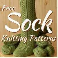 Find all the best free sock knitting patterns from all over the internet in this knitted sock pattern directory.  Knitted socks are a great practical...  #knitting