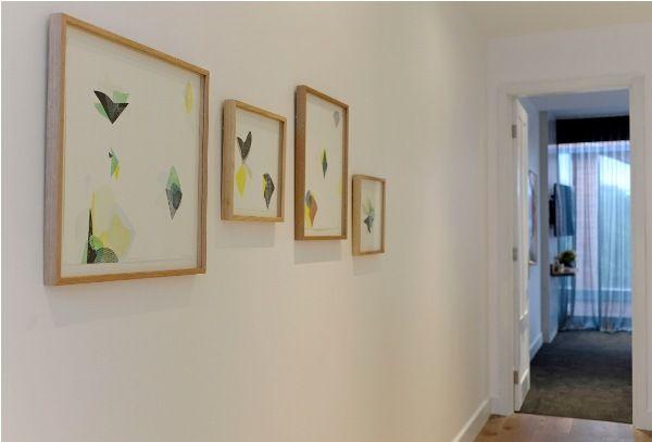 Kyla and Kara's hallway artwork. Ellin Malin Prints.