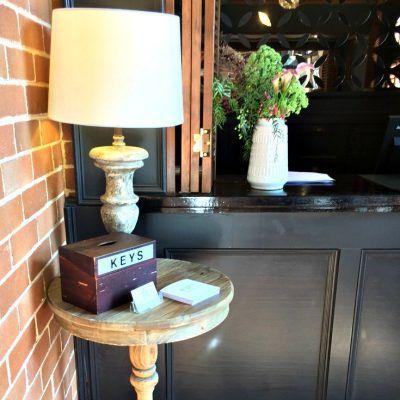 Berida Hotel Bowral Southern Highlands NSW key box at reception