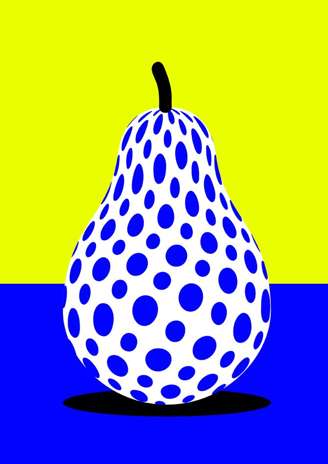 Pear - Forbidden Fruit 3 - Vector Illustration by Karan Singh