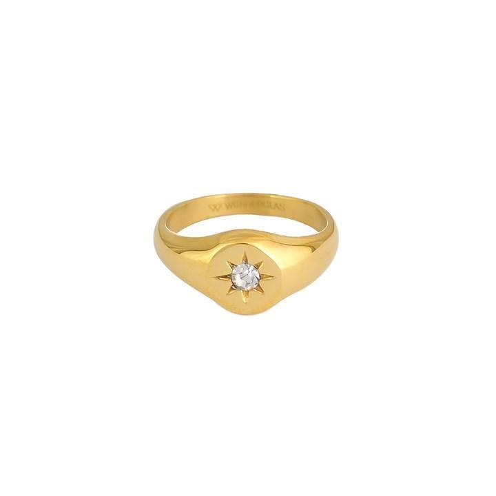 Ava Ring Wunderglas Gold Ringe
