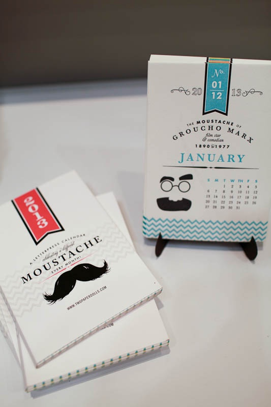 2013 moustache calendar from two paper dolls, now available at Rock Paper Scissors Ann Arbor www.rockpaperscissorsshop.com