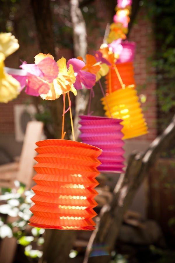Luminárias fofas para festinha havaiana