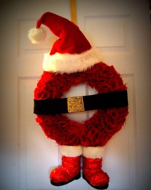 Las 25 mejores ideas sobre coronas navide as en pinterest guirnaldas de yute coronas y - Figuras navidenas para decorar ...