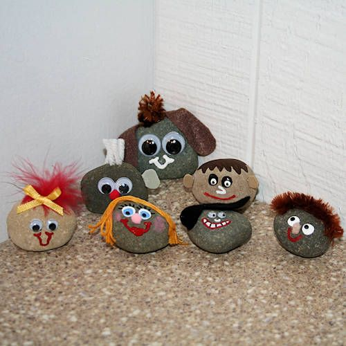 Pet Rocks! Who remembers these?  from http://familycrafts.about.com/od/craftstechniques101/tp/10minutecrafts.htm