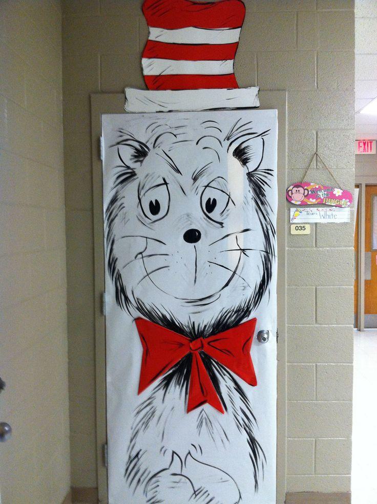 Class Room Door Dr Seuss Quot The Cat In The Hat Quot School