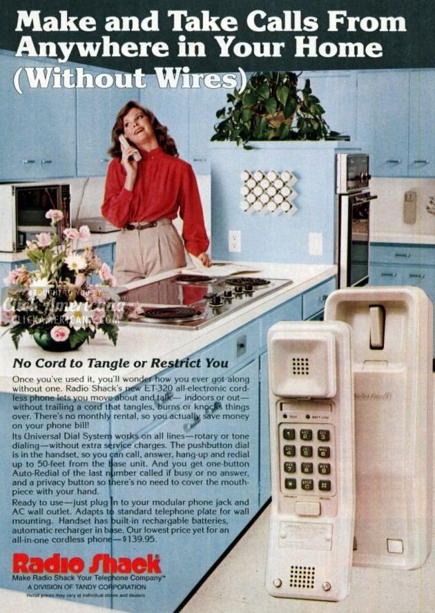 Radio Shack's new cordless telephone (1982)