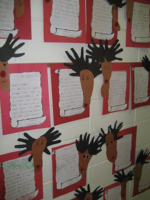 Queen of the First Grade Jungle- letters to Santa for a reindeer job.  Too cute!