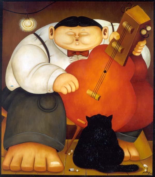 """Fernando Botero, """"El musico"""" (1999)"""