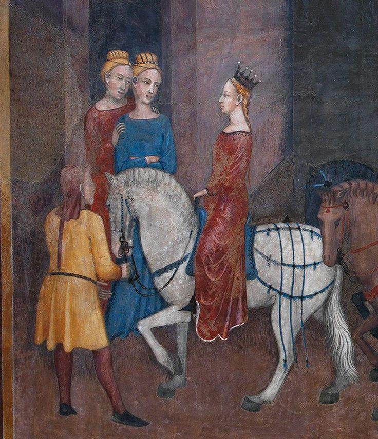 Ambrogio Lorenzetti-Il Buongoverno (detail)- Siena- Tuscany-Italy