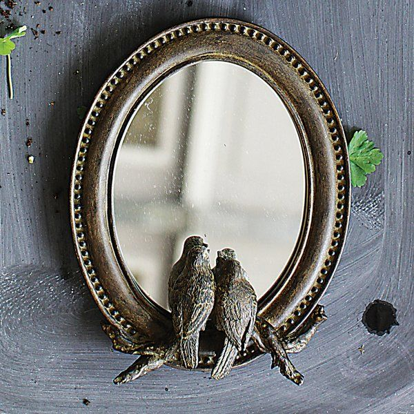 "You'll love the 7.25"" L x 9.25"" H Resin Framed Mirror with Birds at Wayfair.ca - Great Deals on all Décor & Pillows products with Free Shipping on most stuff, even the big stuff."