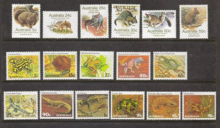 1981-1983 Australian Animals Definitives 1c-95c Complete Set of 17 MUH in Stamps, Australia, By Type | eBay!