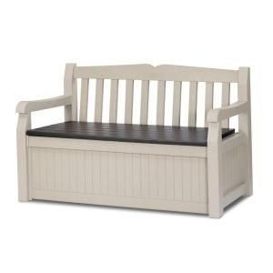 Storage and extra seating for porch. Matches rocking chairs we have. Keter 70 Gallon Bench Deck Box-212745 at The Home Depot