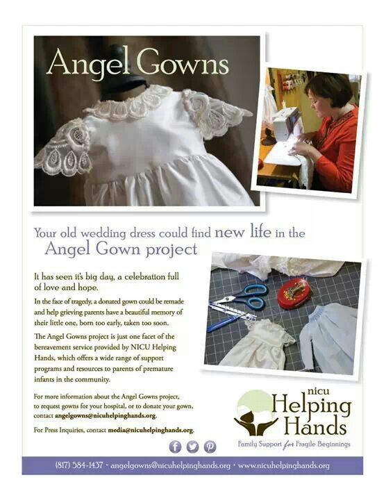Cool Angel Gowns Please consider donating your wedding gown for this precious cause It will