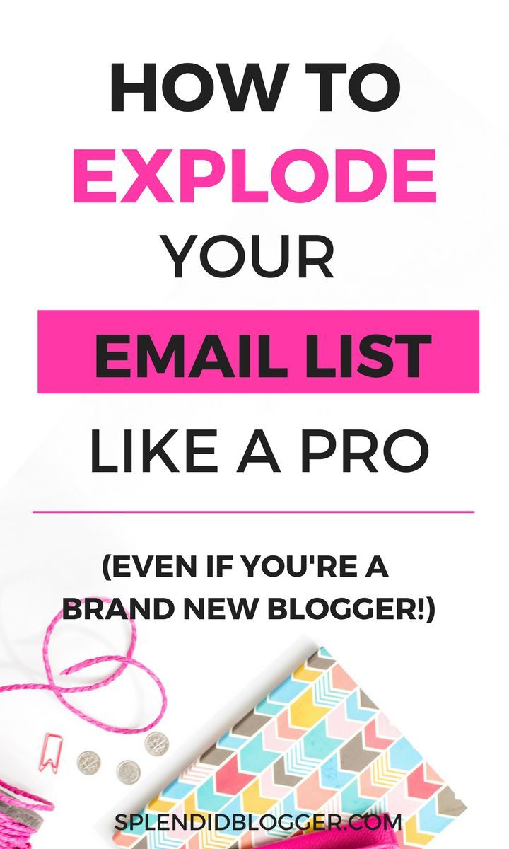 Learn how to grow your new email list like a pro! Even if you're a new blogger! // Splendid Blogger << #blogging