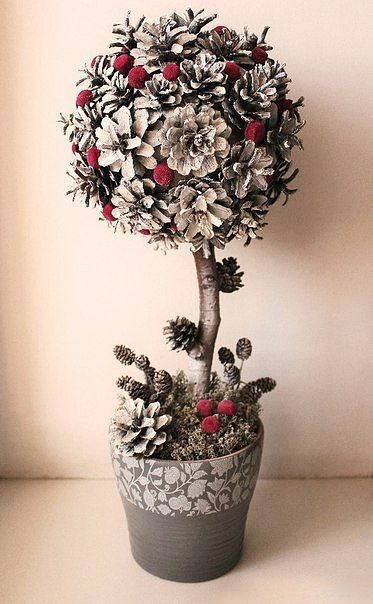 Новогодний топиарий своими руками: мастер-классы и советы флориста
