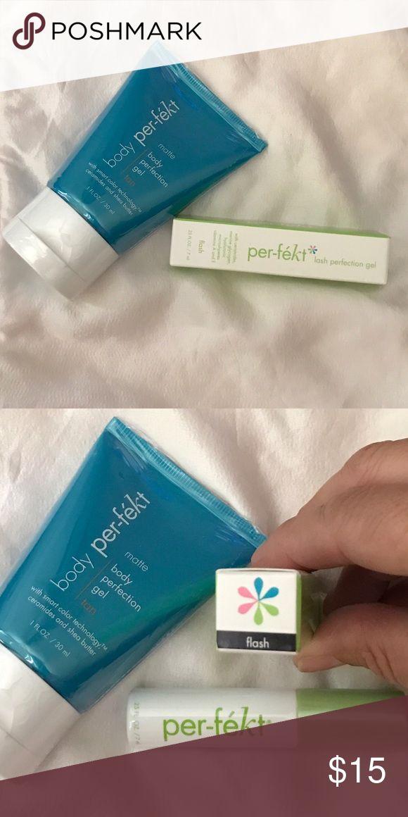Perfekt Travel Products ❤✌🏼❤ Body Perfekting Gel 👊🏼 and Lash Perfekting Gel never opened. Amazing LOVE IT❤✌🏼❤ Perfekt Makeup Mascara