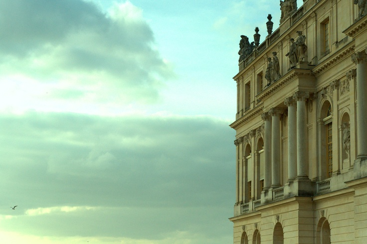 Palace of Versailles - Castle's walls in the blue sky - Paris, France