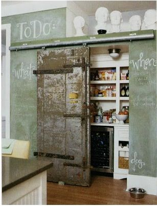 barn door pantry. love this