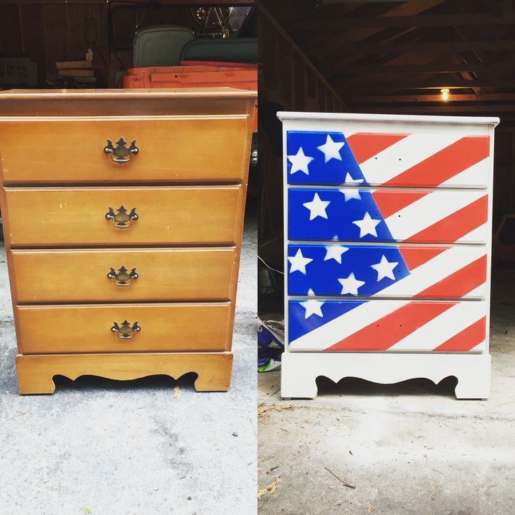 The start to a patriotic bedroom!