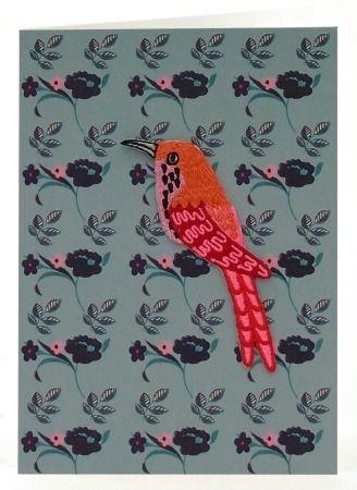 beautiful IRON-ON bird greeting card.