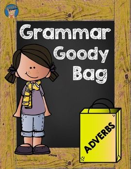 Teach students all about adverbs using this grammar goody bag! It has everything…