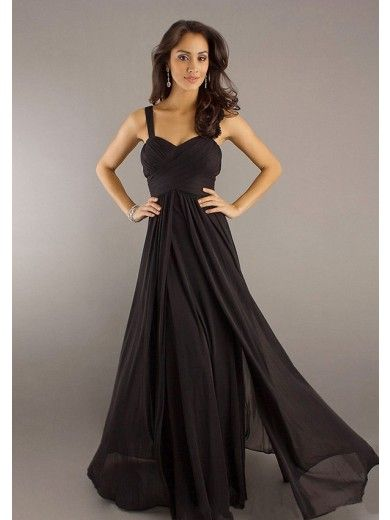 A-Line Sweetheart Floor-Length Chiffon Bridesmaid Dresses