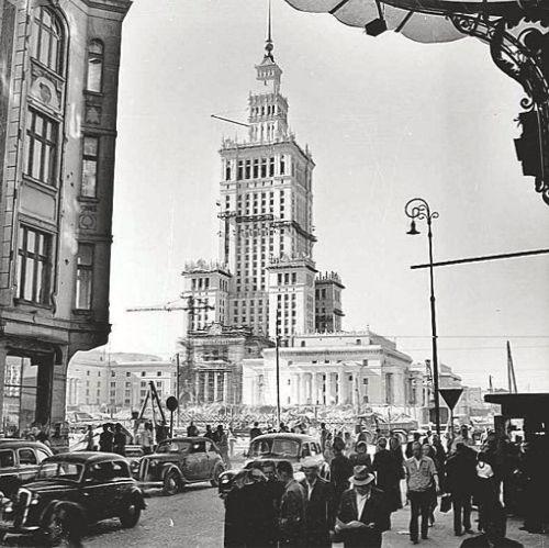 PKiN / Warsaw / early 50ties, http://czytatnikagi.blogspot.com/2010/12/zy-leopold-tyrmand.html