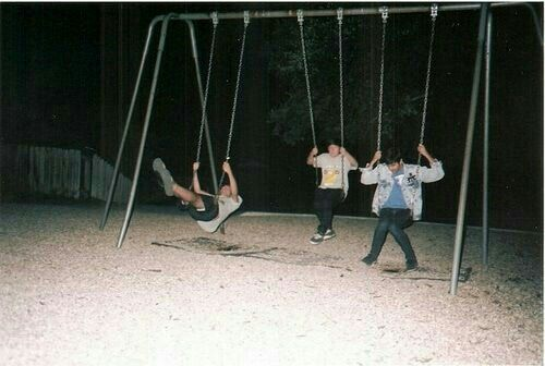 Stayed with those three people when we stopped off in Indiana. We saw two deer that day at the park and ive never seen anyone over 6 have so much fun on the swings.