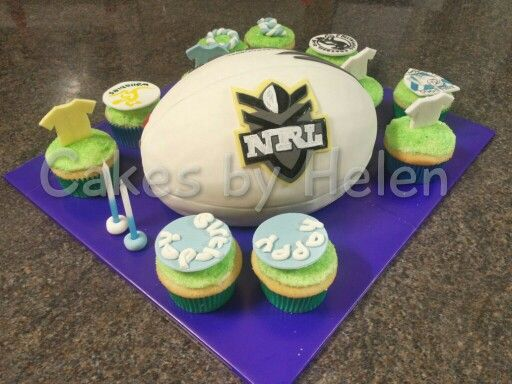 Aussie Football birthday cake. #footie #NRL #AFL #collingwood #waratahs #wallabies #doggies