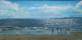 beach near Kinsale Ireland marine art briankillinart