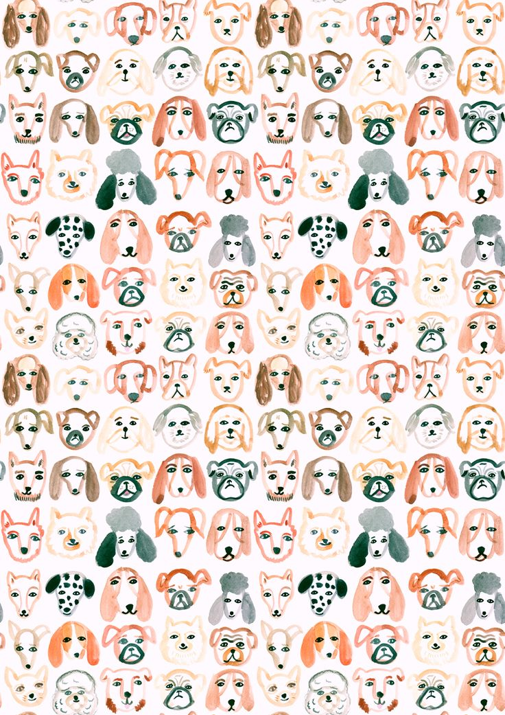 All of the Dogs - Pattern | Emily Nelson Illustration