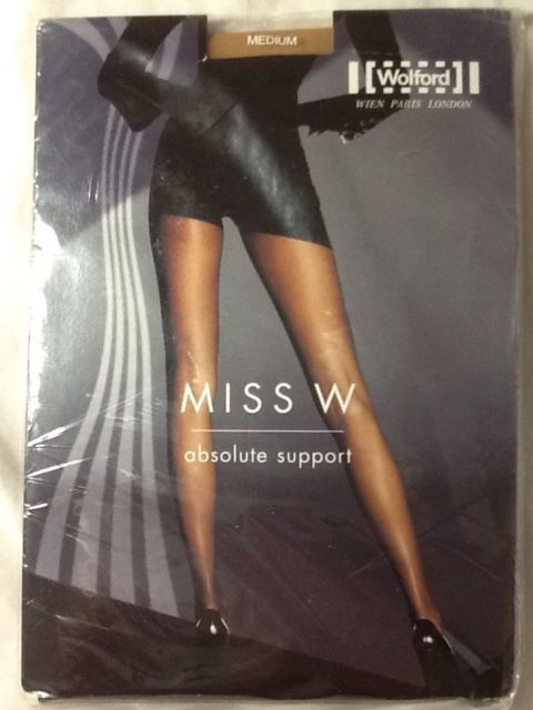 Wolford Miss W Absolute Support Tights Pantyhose Caramel Medium | eBay