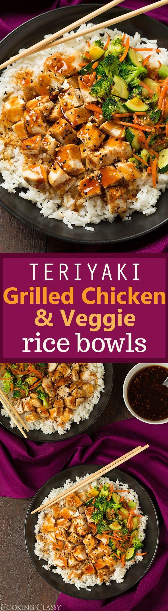 Teriyaki de poulet et légumes cuisinés, avec un peu de riz ! ; ) mmh ! Chais pas vous mais moi ça me donne faim !