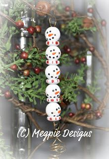 Megpie Designs: Beaded Snowmen