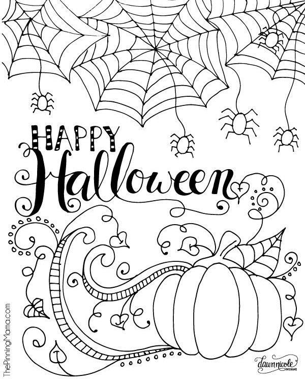 Printable Coloriage Happy Halloween   Créamalice ...