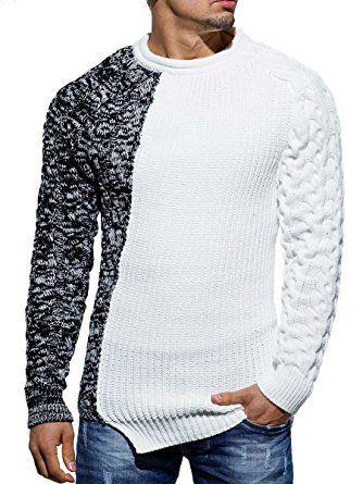 9ae1bf9f8cc0 Shoppen Sie Pullover Herren Strickpullover Strick Pulli Winter asymetrisch  Zopfstrick Slim Fit Optik auf Amazon.de Pullover