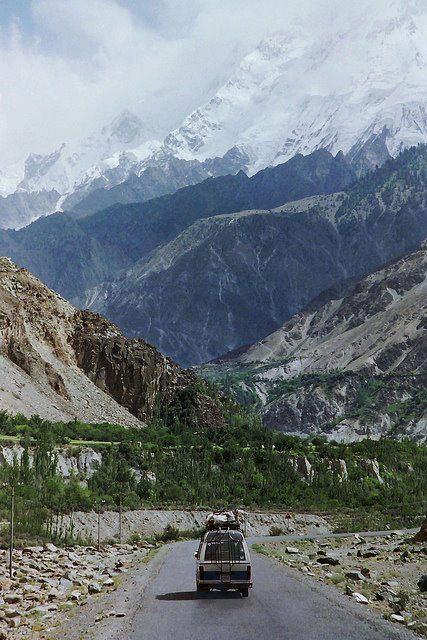 A picturesque scene of Karakorum Highway