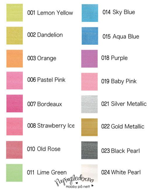 Kirarina Wink fargekart