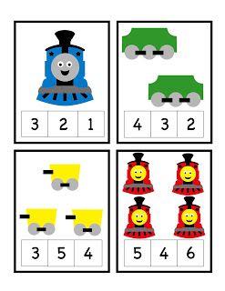 Preschool Printables: Train Number Printable