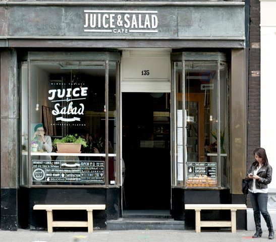 Juice & Salad Café - Saladebar, Sappen http://www.juiceandsalad.nl